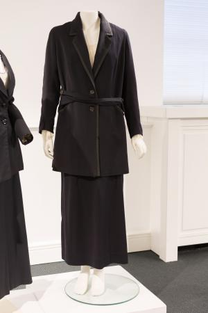 Late 1910s tailor made suit with blouse, 61-025 and 2011.33.22