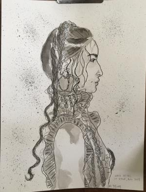 Pen and ink for Katherine (2019)