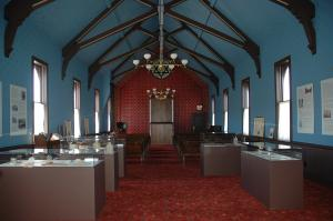 Temple Israel Synagogue and Museum interior.