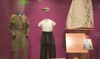 "Duties at the Chicago History Museum included dressing and building mannequins for artifact exhibition. The mannequin at center was built to showcase the attire of a transgendered Chicago adolescent for the ""Coming of Age"" exhibit (2004)."